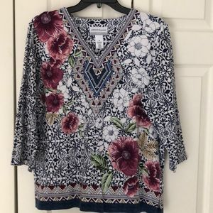 Alfred Dunner Top. EUC